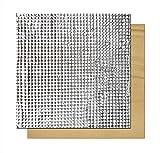 SOOWAY Tapis d'isolation thermique en coton léger pour imprimante 3D Compatible avec Creality CR-10S CR-10 Ender 3 Anet E12 Anet A8, 220 * 220mm, Silver, 1