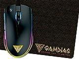 GAMDIAS Gaming Laser Souris avec 6 Touches Intelligentes et Double Niveau Multi-couleur avec Streaming Éclairage (ZEUS E1)
