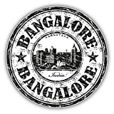 Bangalore City India Grunge Travel Stamp Hochwertigen Auto-Autoaufkleber 12 x 12 cm