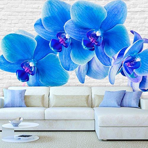 Fototapete Blumen Orchidee 300x210 cm XXL | VLIES TAPETE - Moderne Wanddeko - Fototapete 3D Illusion - Riesen Wandbild - Design Tapete - Schlafzimmer, Wohnzimmer, Kinderzimmer geeignet | Fototapeten Wandtapete FOA0019c62XL