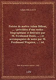 Poésies par Adam BILLAUT