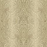 danslemur 323–4Vliestapete TNT mit Pasley und Wirkung Farbverlauf, Farbe Gold