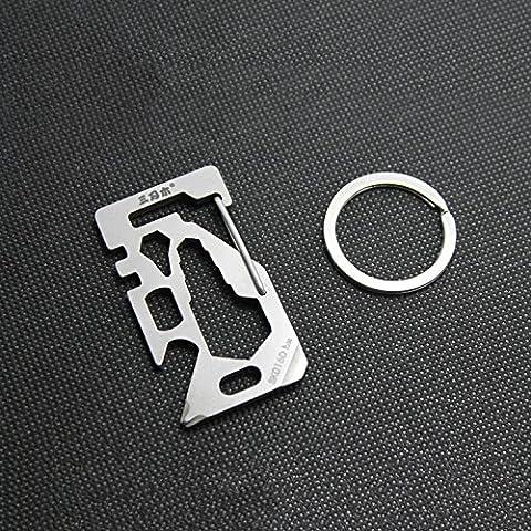 Reixus(TM) Pocket Multi Functional Tool Toolkit Spanner Wrench Spoke Key Flat & Phillips Screwdriver Bottle Opener w/ Key