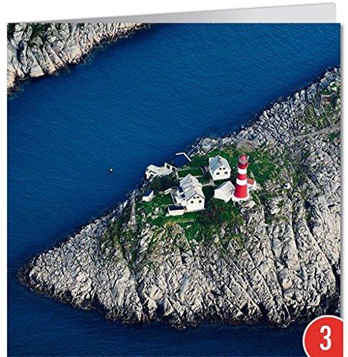 -3-er Packung: Grußkarte GEO von modern times +++ FISCHEN UND FORSCHEN +++ BK-EDITION GEO © RIEGER, Bertrand