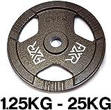 "FXR Sports Tri Grip Cast Iron 1"" Weight Plates"