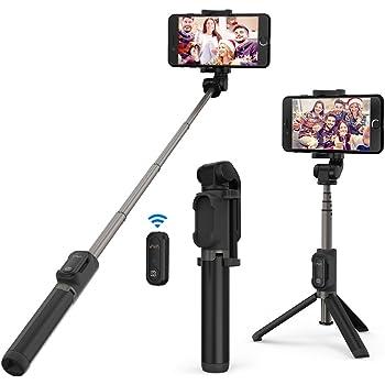 VAVA Bluetooth Selfie Stick Stativ Selfie-Stange mit Bluetooth-Fernauslöser für iPhone X/ 8/7/ 7 Plus/ 6s/ 6 und Android Smartphones von 3.5-6 Zoll Bildschirm Duale 360° Rotation zu 60 cm
