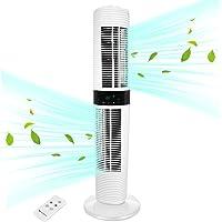 MYCARBON Ventilateur Tour Silencieux Oscillant 360° ECO Mode Ventilateur Colonne sur Pied avec Télécommande 350m³/h 45W…