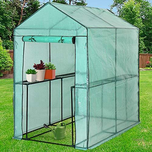 Jago 3,82 m³ Folien-Gewächshaus für die Mini Bio-Produktion und den Blumenanbau (186,5 x 120 x...