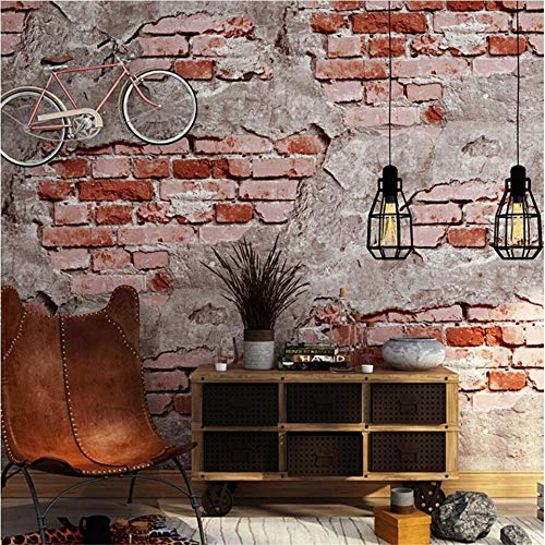 Vlies Tapete Wandtapete Brick Brick Brick Brick Brick Brick Brick Brick Wall Grauzement Mauer Industrial Wind Antiken Hintergrund Wand Tapeten, 0,53 * 10 M, S