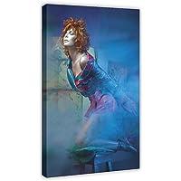 Poster chanteur Mylene Farmer 29 sur toile - Décoration murale - Pour salon, chambre à coucher - 30 x 45 cm - Cadre :