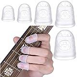 40 Piezas Guitarra Protector Dedos Silicona,5 Tamaños para Protector de Dedos de Silicona de Guitarra,Protector de Dedos Guit