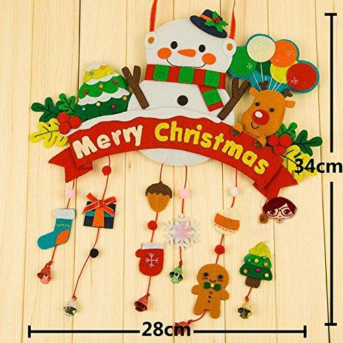 pandahall- Decoration Pendentif Noel DIY Non-tisse Polyester Bricolage Multicolor 340x280mm