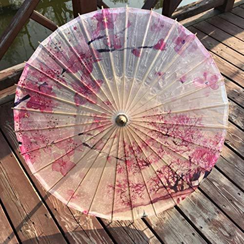Hjcwl 1 pz ombrelli di carta oleata resistenti alla pioggia ombrelli femminili personalizzati personalizzati ombrelli artigianali fatti a mano oggetti di scena decorativi ombrello olio di tung, rosso