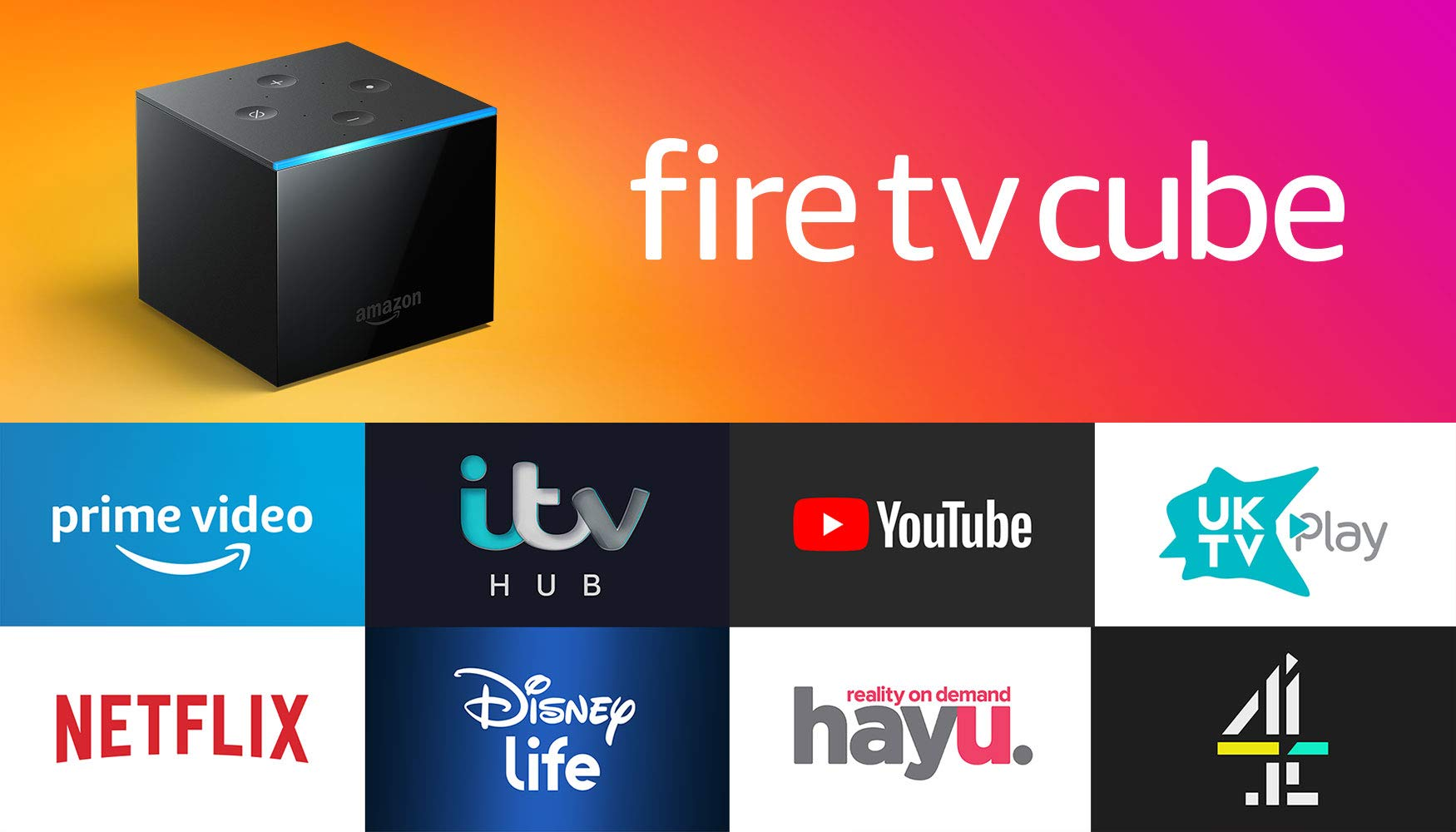 617MDtz3RkL - Fire TV Cube | Hands free with Alexa, 4K Ultra HD streaming media player