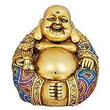 K.S Lachender Buddha Visitenkarte sorgfältig Beste Qualität Harz Smiling Buddha Geschenk für Wohlstand Viel Glück
