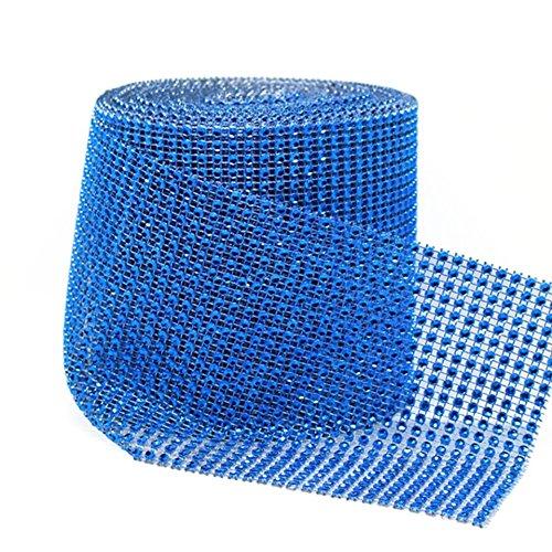 Swiftswan 24 Zeilen Diamond Sparkling Strass Mesh Ribbon Roll für Kunsthandwerk, Event Dekorationen, Hochzeitstorte, Geburtstage, Baby-Dusche