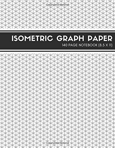 Isometric Graph Paper: Large Notebook (Pro Series 5) - Dekorative Pad Zeichnung