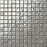 30x30cm Silber texturiert Glas Mosaik Fliesen Matte (MT0127)