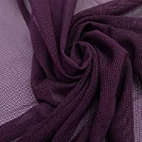 Solid Power Mesh Fabric Nylon Spandex 60 Wide Stretch Sold BTY Many Colors (Plum) by Fabric Wholesale Direct