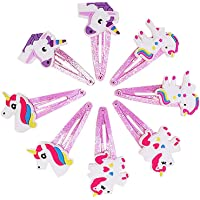 8 x Girls' Unicorn Hair Barrettes