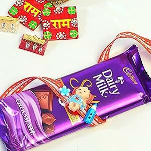 Cultural Concepts Kids Rakhi with Dairy Milk Silk