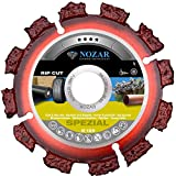 NOZAR Rip Cut Ø125 mm mit Bohrung 22,23 mm ( 6702161) Hartmetall-Trennscheibe für Holz inkl. Nägel, Hartholz, Dachpappe, Bitumenbahnen, Gummi, Kunststoff & dünne Bleche - perfekt für Dachdecker & Zimmermänner