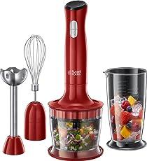 Russell Hobbs 24730-56 Desire Food Processor, 2 Geschwindigkeitsstufen, Impuls-/Ice-Crush-Funktion, Rot/Schwarz