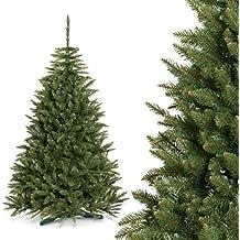 FAIRYTREES albero di Natale finto ABETE ROSSO NATURALE, Materiale PVC, incl. supporto, 150cm, FT01-150