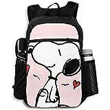Snoopy Merry Christmas - Mochila de viaje plegable con cremallera, mochila de viaje, para hombres y mujeres, adolescentes, re