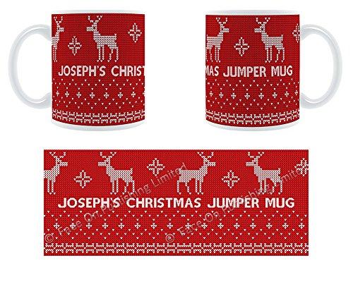 Joseph'Damen-Pullover mit Rentier-Design, Becher, Tasse, Keramik - Joseph A Damen Pullover