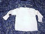 Schildkröt Puppenkleidung für große Babypuppen von 50 - 56 cm, weißes Baby-Wickelhemdchen