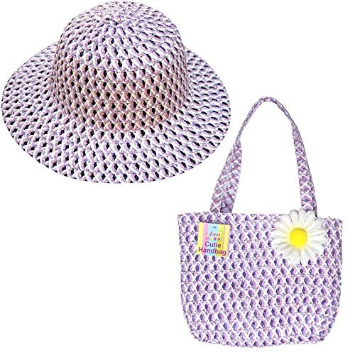 Chicken Cute (Matching Cute Lilac Go Glam Bonnet Summer Hat & Bag Girls Fancy Dress Party Accessories by My Planet)