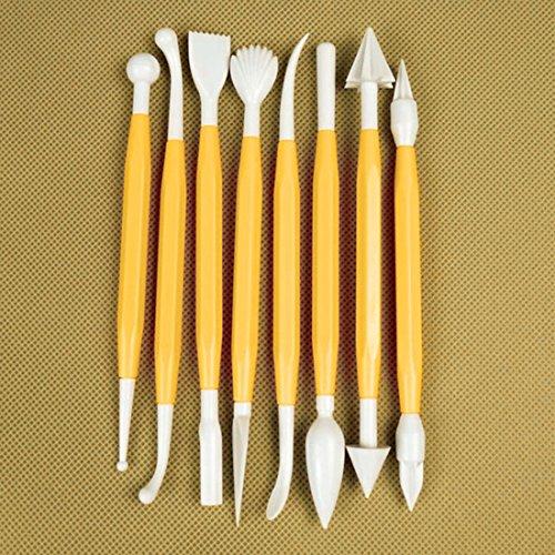 ,/Set Mini Kuchen Dekoration Modellierung Bakeware Flower Sugarcraft Fondant-Tools Kochen gelb
