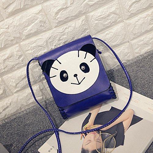 Einzelne Umhängetasche Diagonal Entwicklung Der Koreanischen Cartoon - Dame Hand - Tasche panda - blau