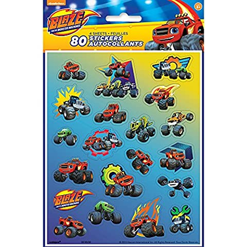 Blaze and the Monster Machines Sticker Sheets [4 per Pack]