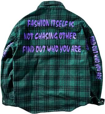 Irypulse Men's Urban Street Fashion Plaid Shirt, Long Sleeve Oversized Casual Streetwear Chic Novelty Harem Hip Hop Tops Shirts for Youths Adolescents Boys – Original Design
