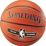 Spalding Basketball Silver für Kinder und Erwachsene NBA Logo indoor/outdoor Größen 3, 5, 6 oder 7 (6 (ohne Ballpumpe))