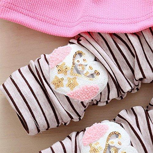8f1682a87 HCFKJ 2pcs ReciéN Nacido NiñA Bebé Vestido De Arco + PantalóN Princesa NiñO  Set Ropa De Vestir ...