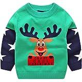 Niños Navidad Jersey Invierno Manga Larga Pull-over Prendas de Punto Sudaderas Ropa 2-3 Años