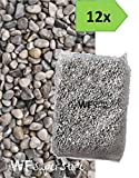 Ghiaino tondo di fiume 4/16mm - 12 sacchi da 25 kg - sassi ghiaia graniglia