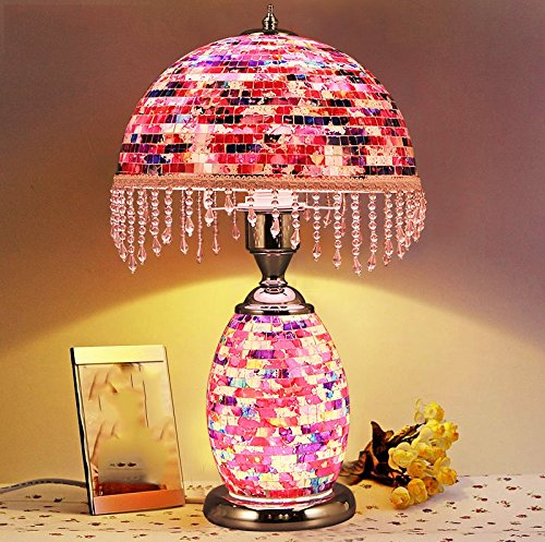 Table Lamp Coffee Table Lamp- 45cm European-style Retro Mosaic Decorative Lighting LED Lamps
