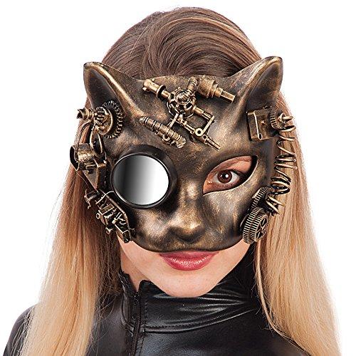 Máscara gato mecánico