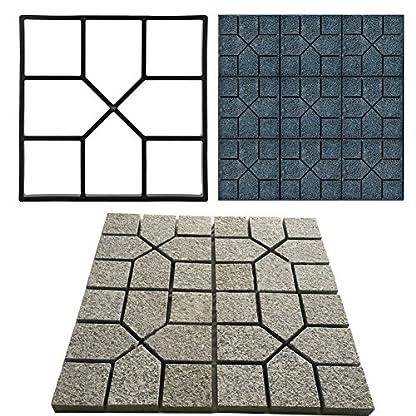 Molde para Cemento Moldes para Hormigon Jardin Molde para Hacer Pavimentos para Jardín Cemento