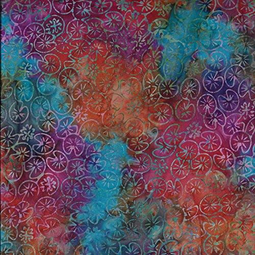 Fabric Freedom Holi Multi-Palette mit 100% Baumwolle, Batik Bali gebatikt aus Stoff für Patchwork- und Quilt- und Bastelarbeiten (Preis pro Viertel-Meter) (Stoff Kaufman)