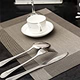 TechCode®PVC Insulation Non-slip Insulation Placemat Washable Table Mats (Grey , Set of 4)