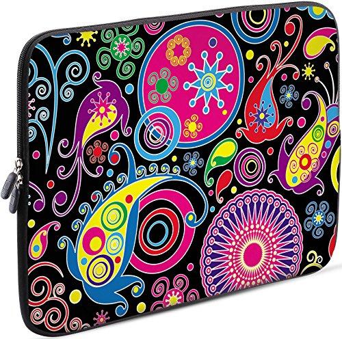 Sidorenko Laptop Tasche für 17-17,3 Zoll | Universal Notebooktasche Schutzhülle | Laptoptasche aus Neopren, PC Computer Hülle Sleeve Case Etui, Rosa/Schwarz