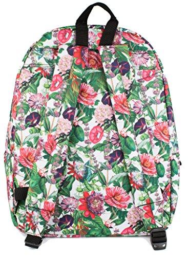 Hype Rucksack Taschen Rucksäcke–Schulranzen–viele neue Farben & Designs–wählen Sie Ihre Favoriten aus 40Styles, Speckled Black/Navy Blue (Schwarz) - Hype bag (Splatter Embroid) Plant Life