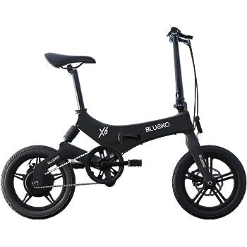 Bluoko Bicicleta eléctrica Plegable X6 (Negro)