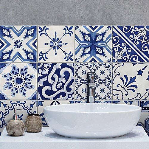 15 Adhesivo para azulejos 20x20 cm - PS00126 - Portimao - Adhesivo decorativo para azulejos para baño y cocina - Stickers azulejos - Collage de azulejos