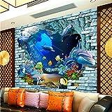 Benutzerdefinierte Wandbild 3D Unterwasserwelt Space Fresco TV Hintergrund Wandbild Kinderzimmer Aquarium benutzerdefinierte Tapete